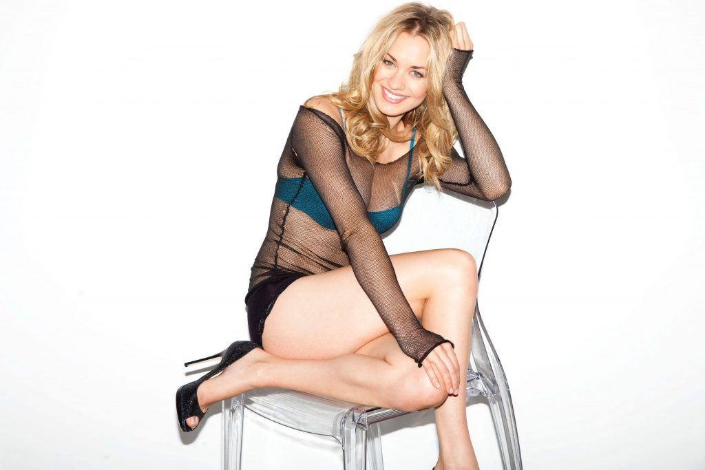 Beautiful Blonde Actress And Model - long legs